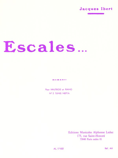 Escales No.2 - Hautbois et Piano