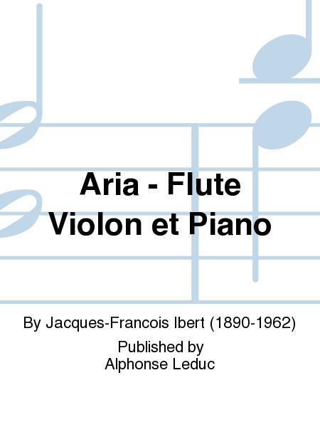 Aria - Flute Violon et Piano