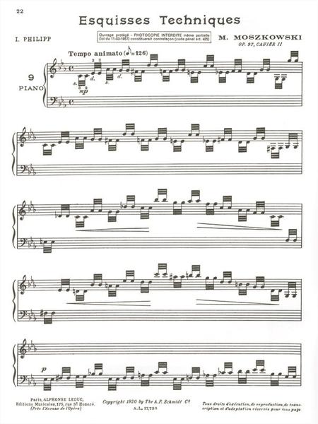 Esquisses Techniques Op97 Volume 2 - Piano