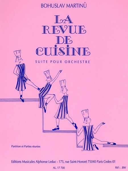revue de cuisine sheet music by bohuslav martinu sheet