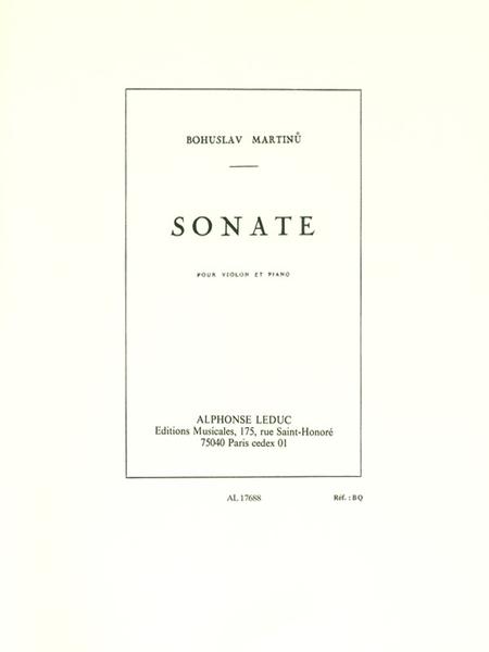 Sonate - Violon et piano