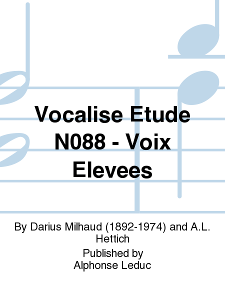 Vocalise Etude No.88 - Voix Elevees