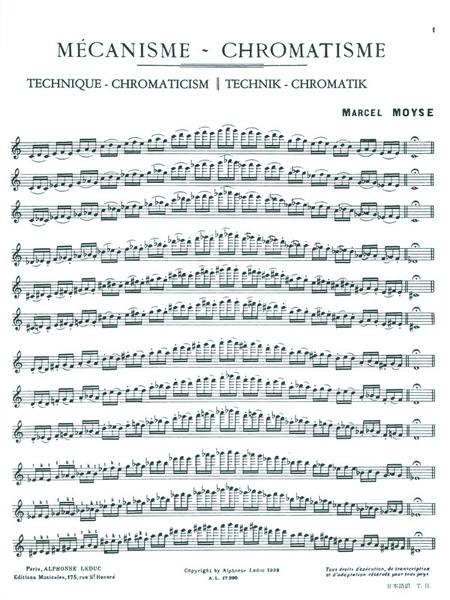 Mecanisme-Chromatisme - Flute