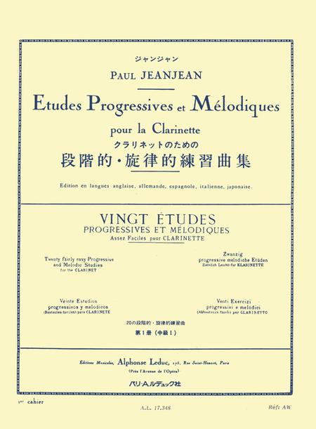 20 Etudes Progressives Et Melodiques Volume 1 Clarinette