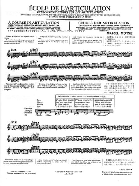 Ecole De L'Articulation - Flute