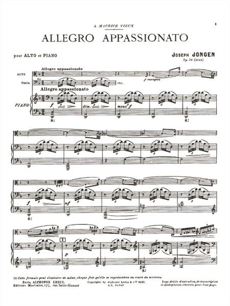 Allegro Appassionato Op79 - Alto et Piano