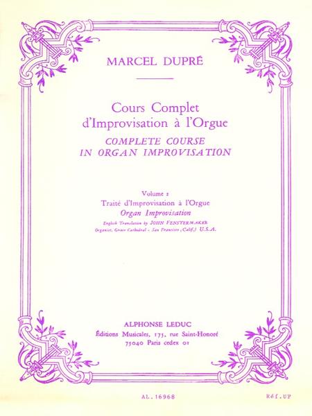 Cours Complet D'Improvisation a L'Orgue/Vol 2/Edition Francaise