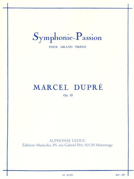 Symphonie Passion Op23 - Orgue
