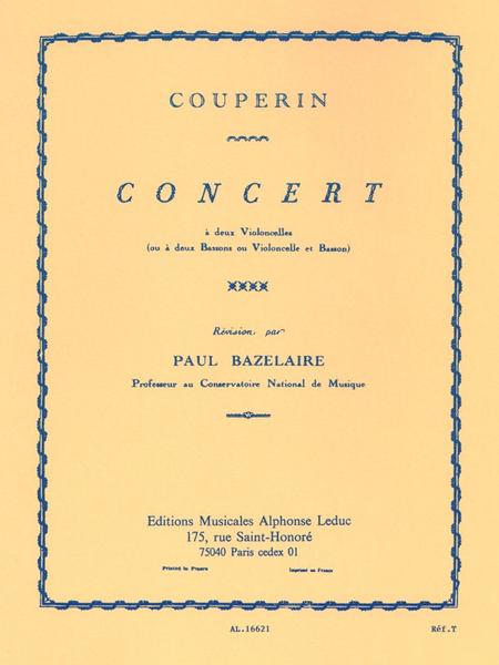 Concert - 2 Violoncelles