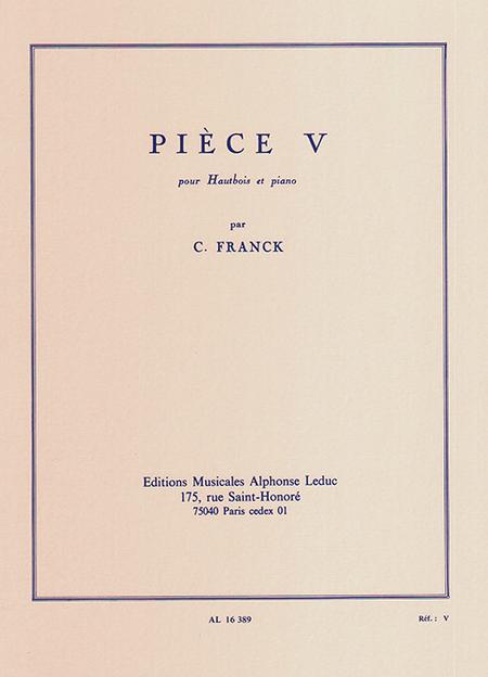 Piece V - Hautbois et Piano