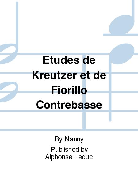 Etudes de Kreutzer et de Fiorillo Contrebasse