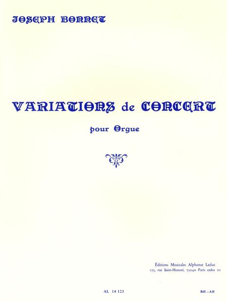 Variations de Concert - Orgue