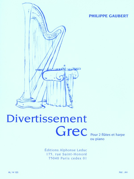 Divertissement Grec - 2 Flutes et Harpe (Ou Piano)