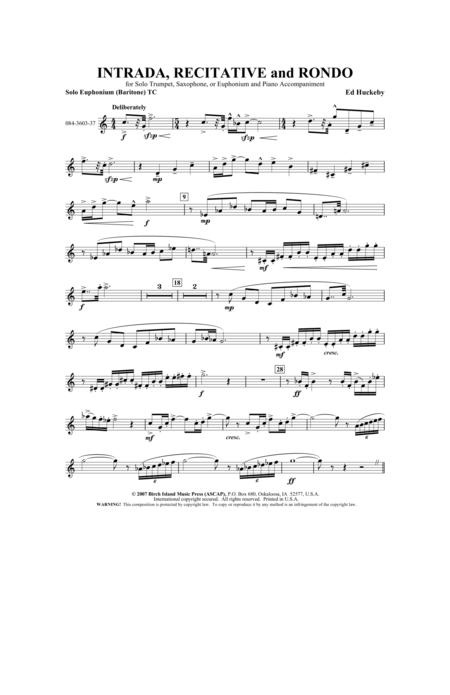 Intrada, Recitative and Rondo