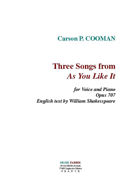 Three Songs from