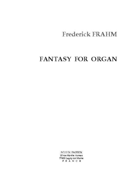 Fantasy for Organ