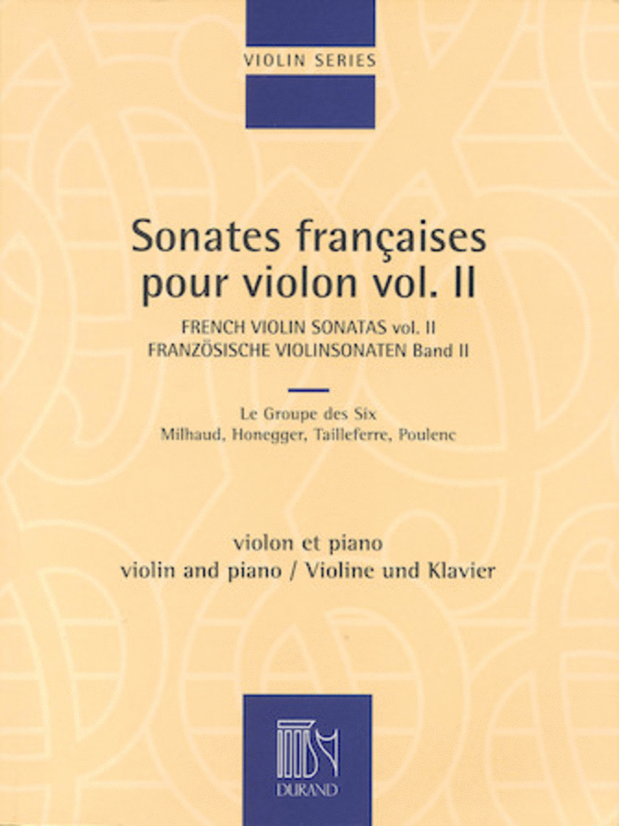 French Violin Sonatas - Volume 2