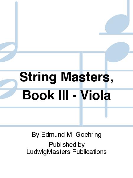 String Masters, Book III - Viola