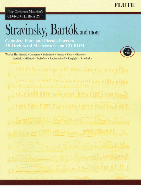 Stravinsky, Bartok, and More - Volume VIII (Flute)