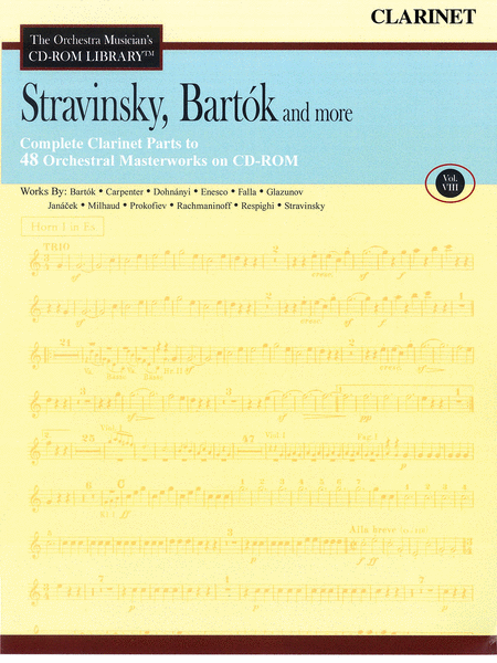 Stravinsky, Bartok, and More - Volume VIII (Clarinet)