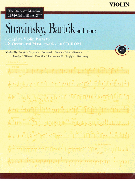 Stravinsky, Bartok, and More - Volume VIII (Violin)