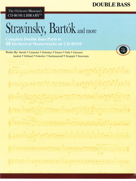 Stravinsky, Bartok, and More - Volume VIII (Double Bass)