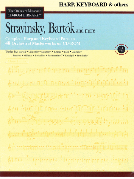 Stravinsky, Bartok, and More - Volume VIII (Harp/Keyboard/Auxiliary)