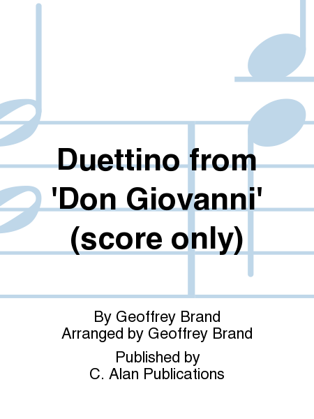 Duettino from 'Don Giovanni' (score only)