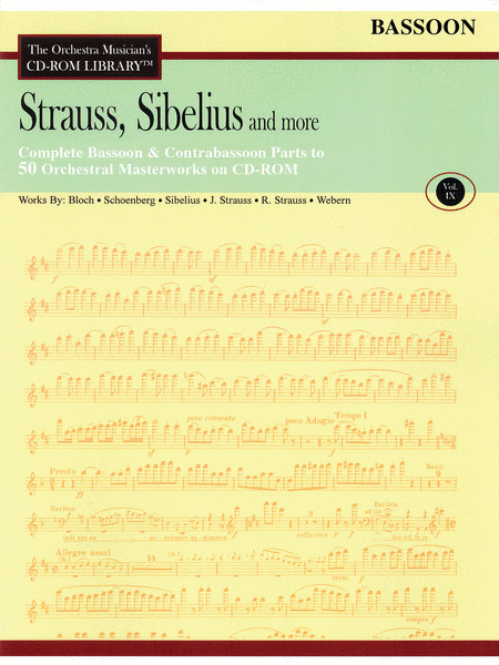 Strauss, Sibelius and More - Volume IX (Bassoon)