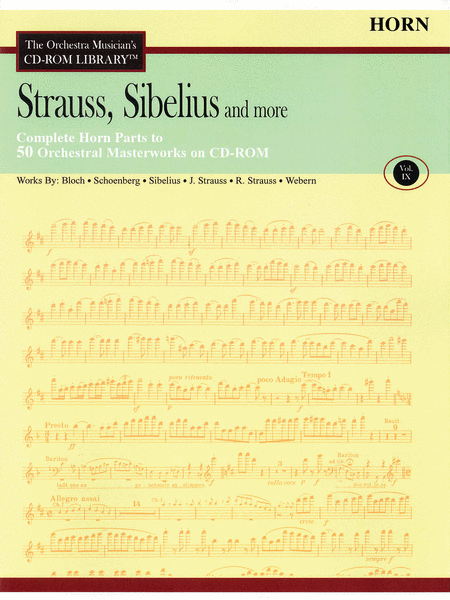 Strauss, Sibelius and More - Volume IX (Horn)
