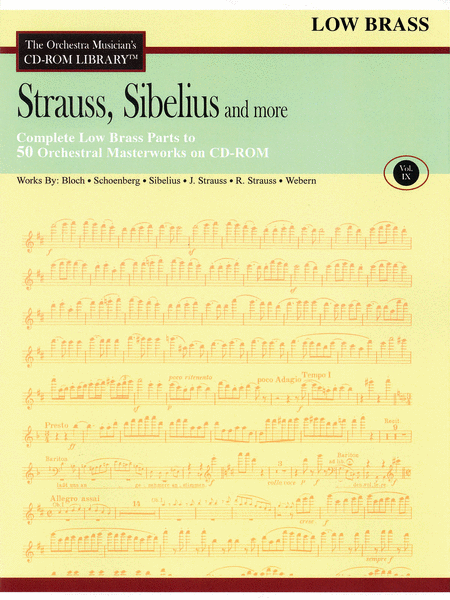 Strauss, Sibelius and More - Volume IX (Low Brass)