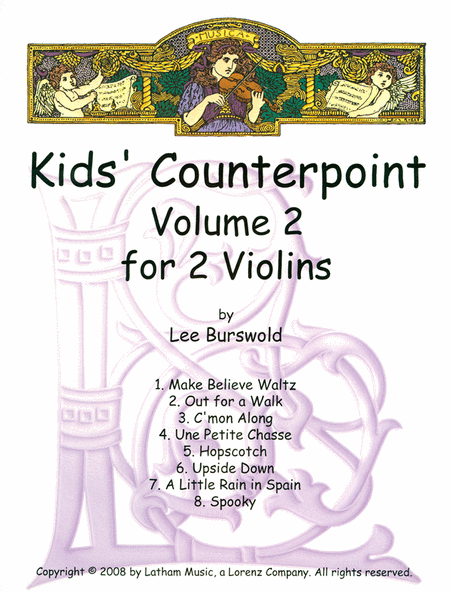 Kids' Counterpoint: Volume 2 for 2 Violins