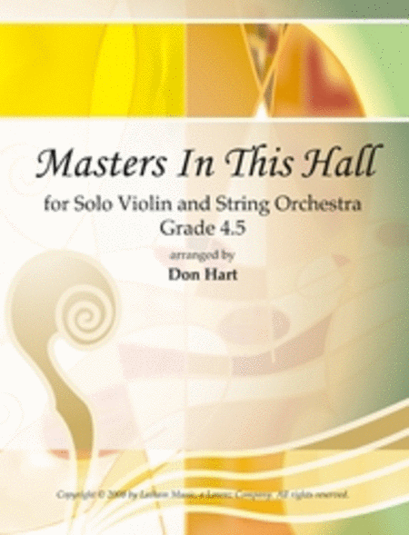 Masters In This Hall for Solo Violin and String Orchestra