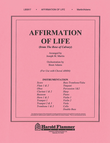 Affirmation of Life (from Rose of Calvary)