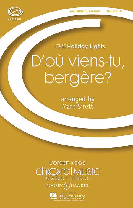 D'ou Viens-tu, Bergere?