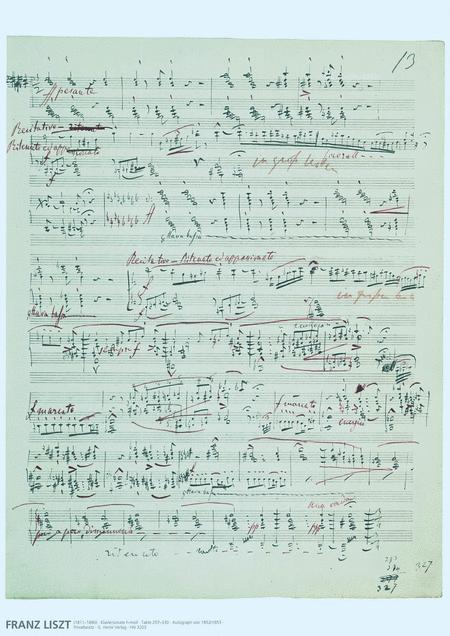 Franz Liszt Music Manuscript Poster