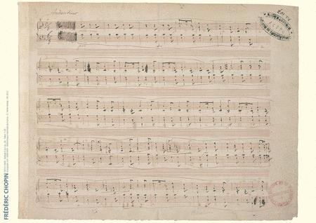 Frederic Chopin Music Manuscript Poster