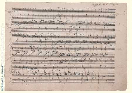 Wolfgang Amadeus Mozart Music Manuscript Poster