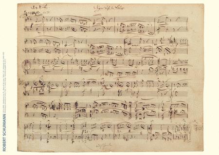 Robert Schumann Music Manuscript Poster