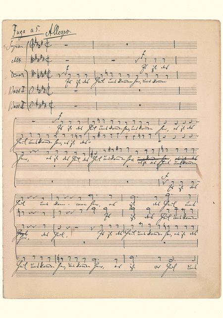 Johannes Brahms Music Manuscript Greeting Card