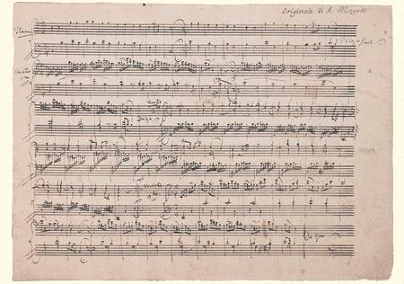 Wolfgang Amadeus Mozart Music Manuscript Greeting Card