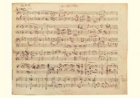 Robert Schumann Music Manuscript Greeting Card