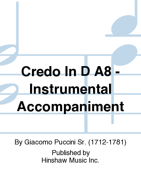 Credo in D A8 - Instrumental Parts