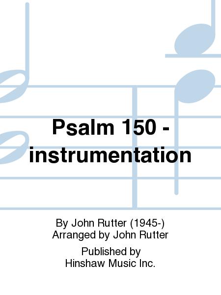 Psalm 150 -  instrumentation
