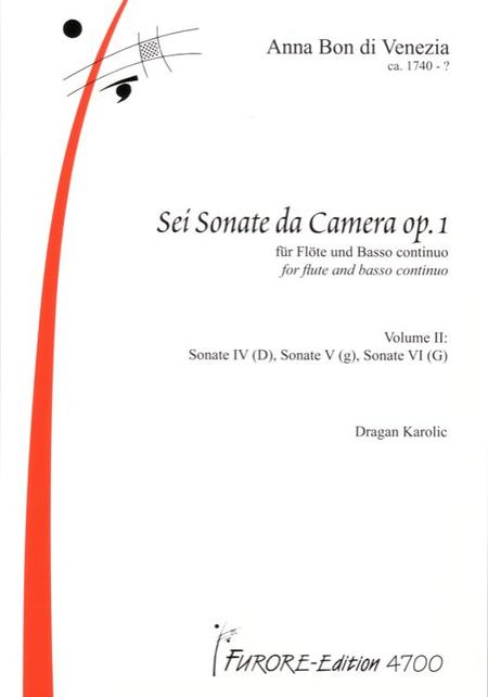 Sonaten fur Flote op. 1 Vol. 2 Sonate 4-6