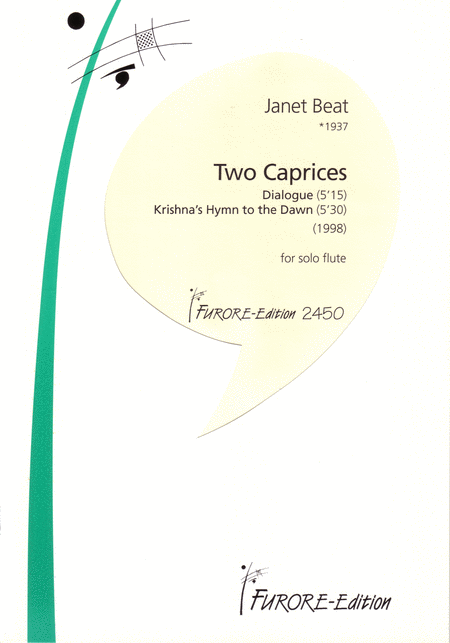 Two Caprices for solo flute: Dialogue, Krishna's Hymn to the Dawn