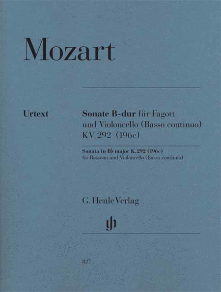 Sonata in B-flat Major, K. 292 (196c)