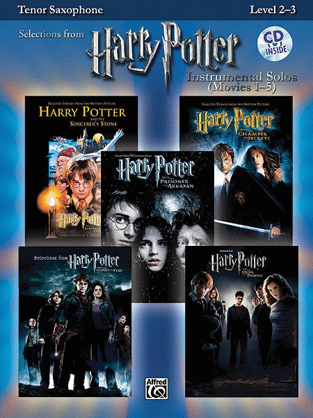 Harry Potter, Instrumental Solos (Movies 1-5) - Tenor Saxophone