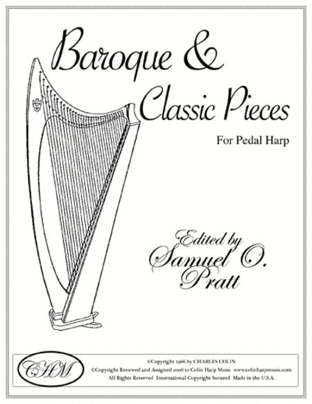 Baroque and Classical Pieces for Harp