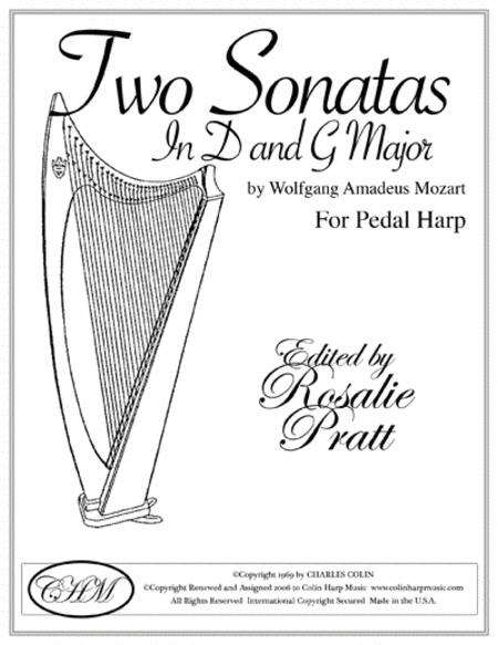 Two Sonatas For Harp In D and G
